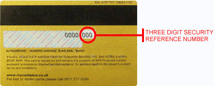 Renew your Icount prepaid MasterCard® - Security Reference Number