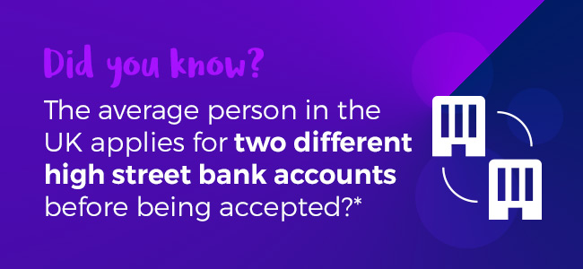 The Average Person Applies for Two High Street Bank Accounts Before Being Accepted
