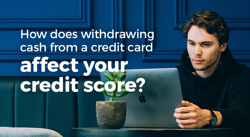 Withdrawing cash from a credit card
