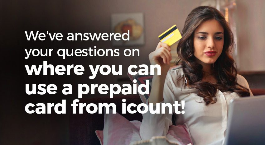Where can you use an icount prepaid card?