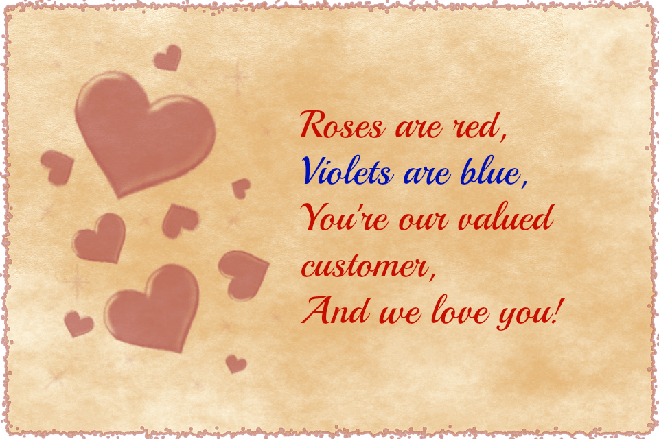 An image with a poem for Valentine's day